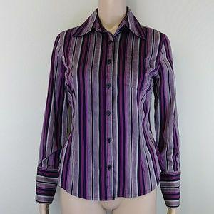 [Mossimo] Purple Striped Button Down Shirt Small